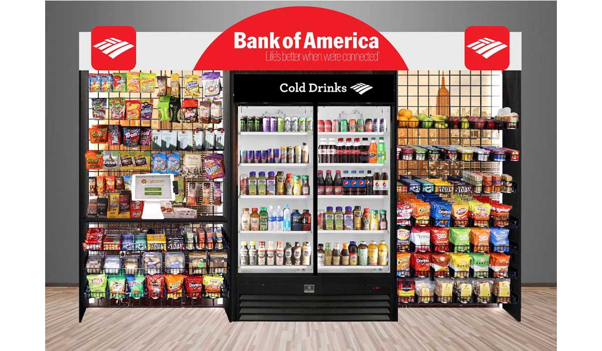 Custom Micro Market Fixtures and Convenience Store retail displays complete with adjustable product dividers and product pushers. These display systems load from the back to control your expiration dates.
